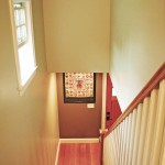 Hardwood staircase entrance