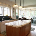 Kitchen Granite counters farm sink Custom lighting