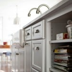 elegant white cabinets with storage