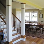 stairs leading into dining room