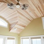 custom wood plank ceiling