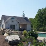 Pool House Addition with cupola