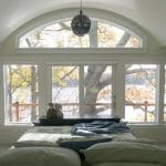 master bedroom curved windows